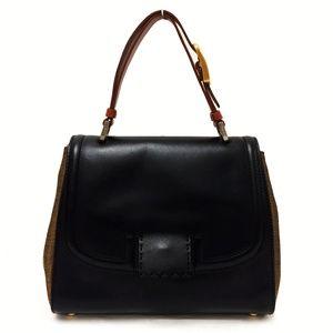 Fendi Silvana Black Leather Bag